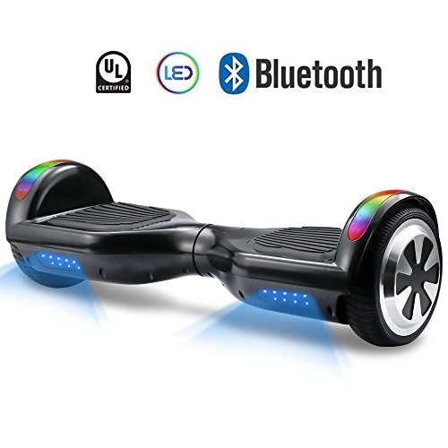 "Hoverboard V800 – UL Certified Self Balancing Hover board, 6.5"" Two wheel Self-balancing Scooter speeds of 9.6mph(top led light built in)"