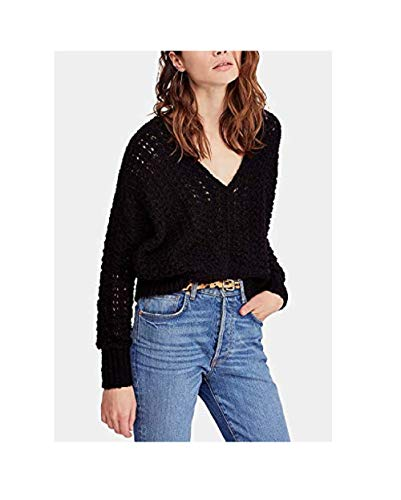 (Free People Women's Best of You V-Neck Black Small)