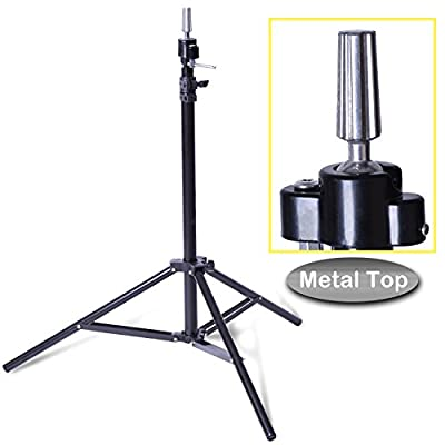 Smilco Adjustable Wig Mannequin Head Tripod Stand for Hairdressing Cosmetology Enhanced Version Training Head Tripod Stand