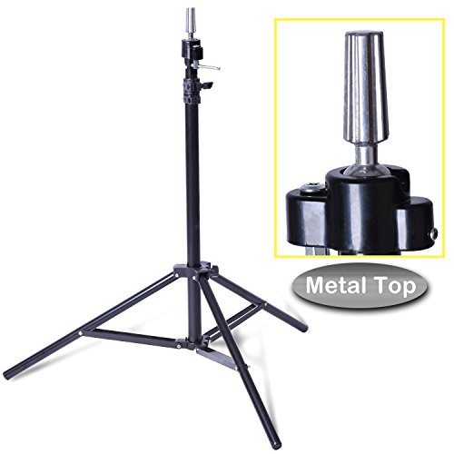 Price comparison product image Smilco Adjustable Wig Mannequin Head Tripod Stand for Hairdressing Cosmetology Enhanced Version Training Head Tripod Stand (Classic)