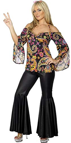 Ladies 1960s 1970s Hippie Hippy Flares Decades Hen Do Fancy Dress Costume Outfit UK 8-26 Plus Size (UK 20-22) ()