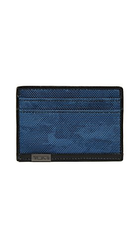 TUMI Men's Alpha ID Lock Slim Card Case, Navy Restoration, One Size by Tumi