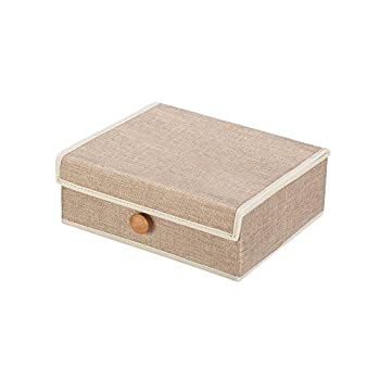 Foldable Storage Cube Basket Bin (Cream)
