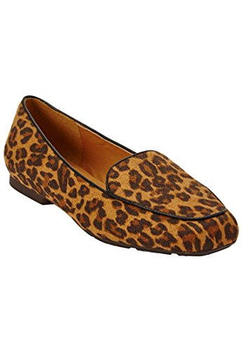 Comfortview Womens Plus Size Liza Flats Animal