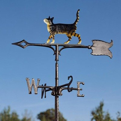 Cat Standing Weathervane Garden Black