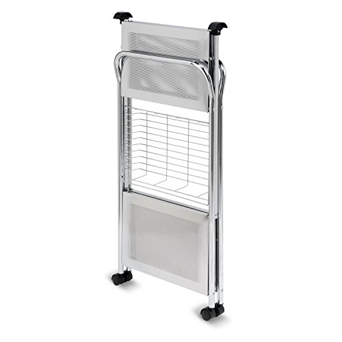 Honey-Can-Do CRT-01703 Deluxe Foldable Push Cart 2-Tier