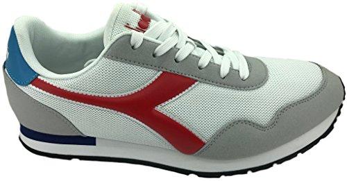 Diadora Shoes Breeze 171437C0823Unisex White Gym Red Casual Men and Women c9P8gt
