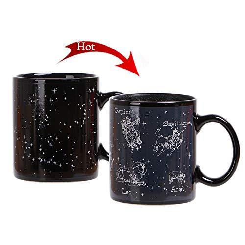Heat Changing Mug Animal Constellation Magic Coffee Mug Heat Sensitive Porcelain Tea Cup(10 OZ) - by Antspirit (Animal Constellation)