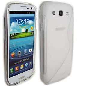 S-Line Gel Cubrir Caso Piel Para Samsung Galaxy S3 SIII i9300 / Off White