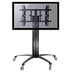 homevision technology lcd8501 mobile tv stand for 32 to 55 tv black electronics. Black Bedroom Furniture Sets. Home Design Ideas