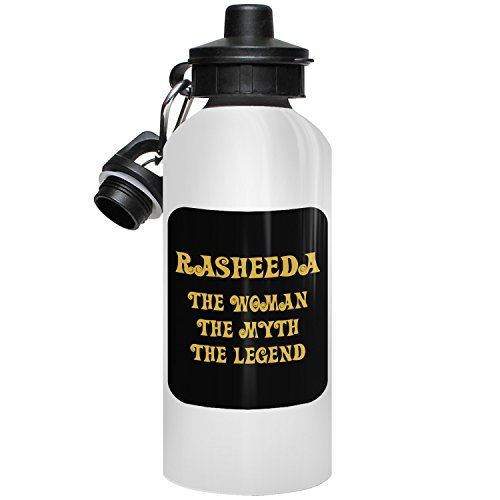 Rasheeda Water Bottle, Personalized Gift, The Woman the Myth The Legend - Gold Black 1