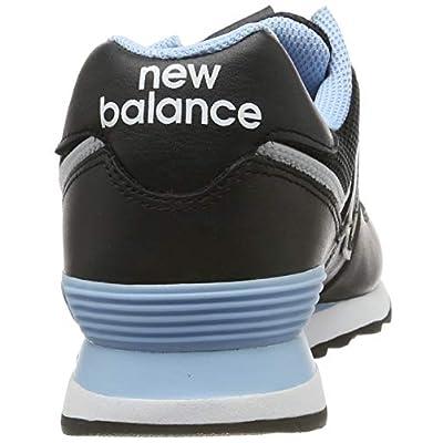 New Balance Men's 574v2 Sneaker, Black/Summer Sky, 13 D US   Fashion Sneakers