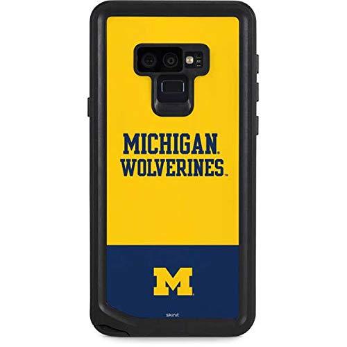 Skinit University of Michigan Galaxy Note 9 Waterproof Case - Michigan Wolverines Split Design - Sweat-Proof, Snow-Proof, Dirt-Proof, Dust-Proof Phone Cover