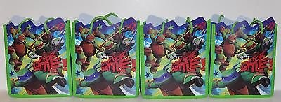 [Teenage Mutant Ninja Turtles Tote Bag x 4] (Nickelodeon Teenage Mutant Ninja Turtles Treat Bags)