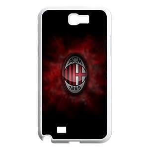 Samsung Galaxy N2 7100 Cell Phone Case White AC Milan Football eaol