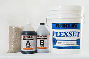Roklin Systems Inc. FlexSet Rapid Concrete Repair 5 Gallon Kit