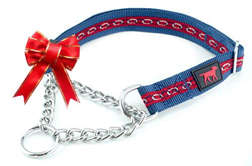 Martingale Collar For Dogs Is Perfect For Training | No Pull Dog Collar With Adjustable Gentle Nylon & Steel Chain | Convenient Sizing For All Breeds | (s)