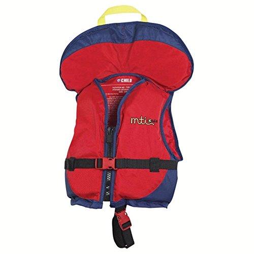 MTI Adventurewear Child PFD Life Jacket with Collar (Mango/Blue, Child Size/30-50-Pound)