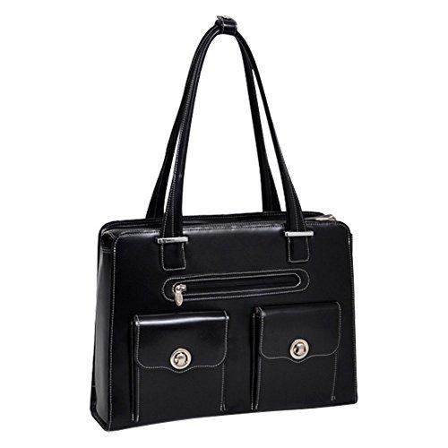 McKlein USA Verona Leather Fly-Through Checkpoint-Friendly Ladies Briefcase