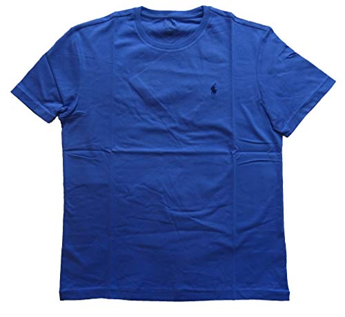 (Ralph Lauren Men's Pony Logo T-Shirt (Small, Steel Blue/Navy Pony))