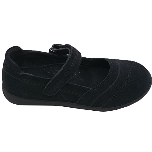 (L'Amour Little Girls Black Sporty Nubuck Leather Mary Jane Shoes 10 Toddler )