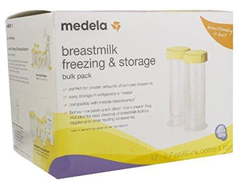 Medela Breast Milk Freezer Pack, 2.7 oz (80ml) Bottles () by Medela   B01D7RUR9Q
