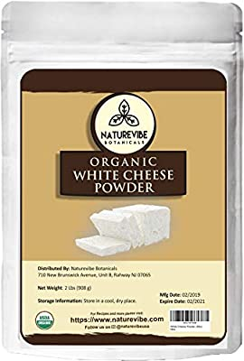 Naturevibe Botanicals Organic White Cheese Powder (2lbs), | Gluten-Free and Non-GMO | Adds Taste and Flavor.