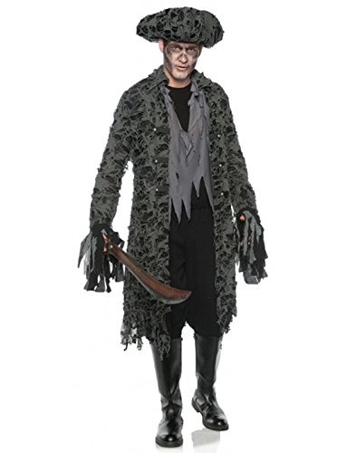 Men's Tattered Ghost Pirate Zombie Costume, One Size]()