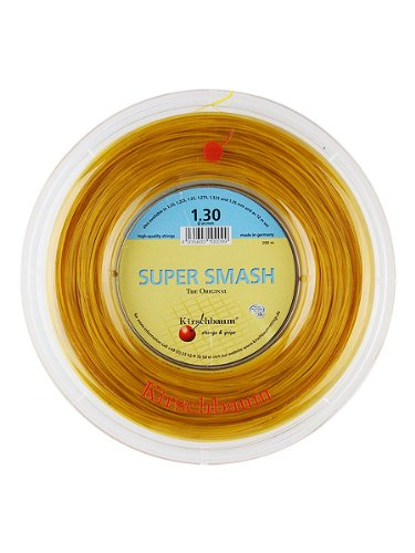 Kirschbaum Reel Super Smash Tennis String, 1.20mm/18-Gauge, Optic Yellow