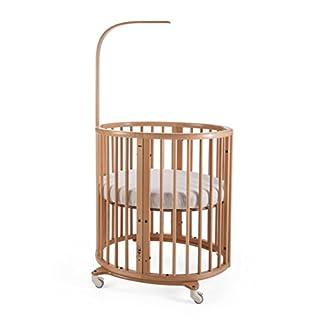 Stokke Sleepi Natural Adjustable Oval Mini Baby Crib Bundle with Mattress