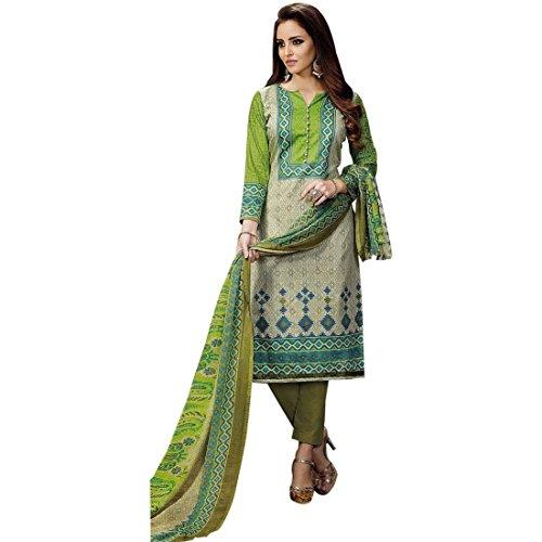 Ready Made Ethnic Karachi Style Printed Cotton Salwar Kameez Indian-Krizia-1001