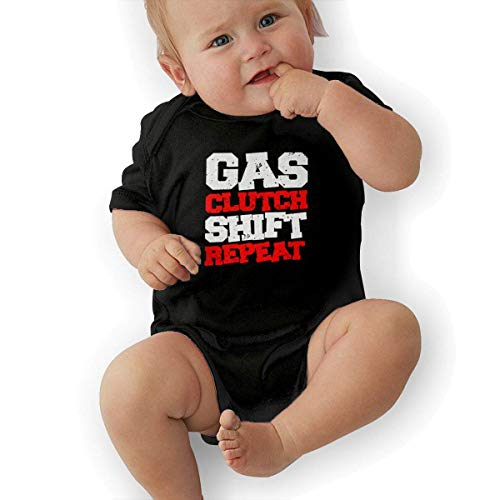 Clutch Shift - sport outdoor 003 Gas Clutch Shift Repeat 2 Cotton Baby Bodysuit Onesies Infant Short-Sleeve Baby Boys Girls Black