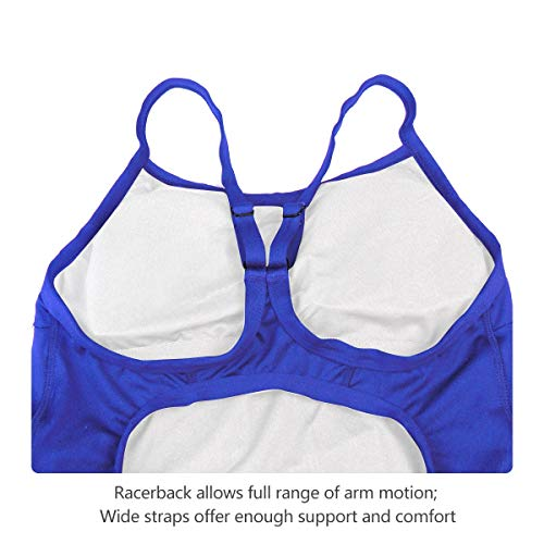 313a628de2e Baleaf Women s Athletic Training Adjustable Strap One Piece Swimsuit  Swimwear Bathing Suit Royal Blue 32