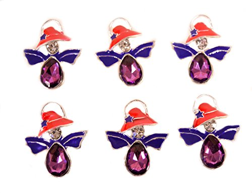 Angel Womens Little Cap (Red Hat Lady Society Angel Pin 6 Pack)