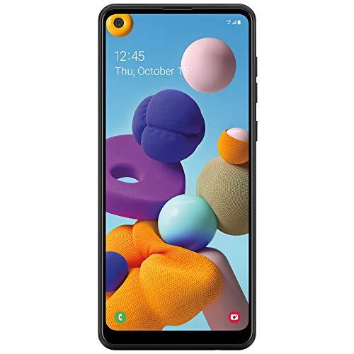 Simple Mobile Samsung Galaxy A21 4G LTE Prepaid Smartphone (Locked) – Black – 32GB – Sim Card Included – GSM