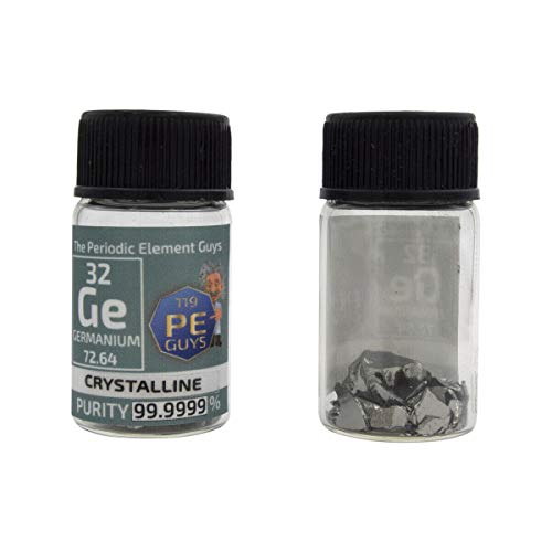 Germanium Metal Crystal Chunks 3 Grams 99.9999% Element Sample in Element Bottle