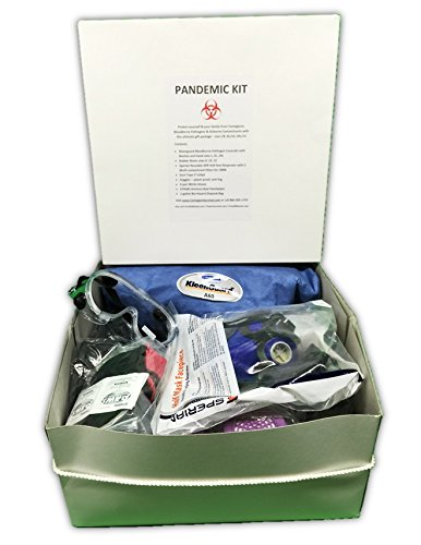 Pandemic Protection Kit Complete - with Half-Face CBRN Respirator, Rubber Boots, Kleenguard Suit in 3 sizes (Extra Large)