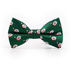 Lfives-ac Corbata de moño Hombre Corbata Sombrero de Papá Noel ...