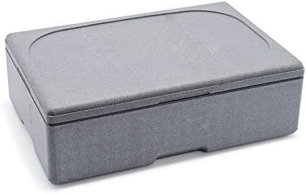 WAS 3740100 1/1-100 - Caja térmica para alimentos (EPS), color gris: Amazon.es