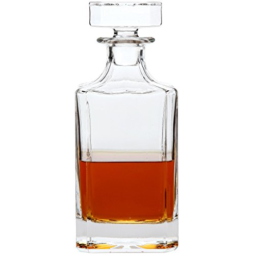 - Lily's Home Glass Decanter with Glass Stopper, Let Your Favorite Vintages Breathe with this Beautifully Stylish and Functional Piece (26 Ounces)