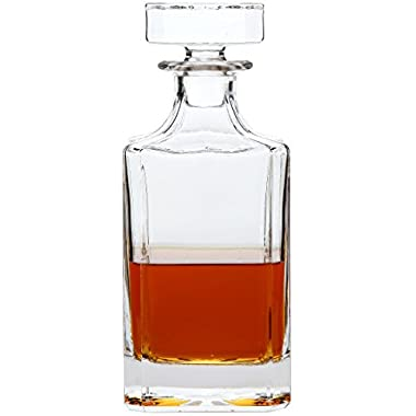 Lily's Home Wine, Liquor and Whiskey Decanter with Glass Stopper