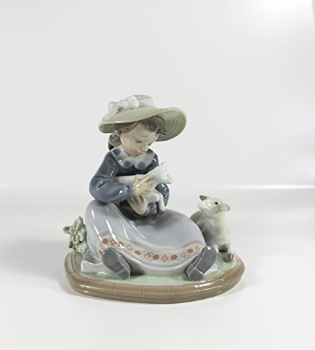 "Lladro Collectible Figurine ""Lambkins"" Retired Glazed Finish"
