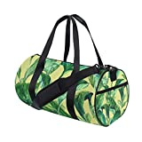 Tropical Plant Yoga Sports Gym Duffle Bags Tote Sling Travel Bag Patterned Canvas with Pocket and Zipper For Men Women Bag