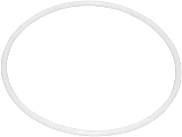 10 Unids 8.5 cm Atrapasueños Redondo Aro Anillo de Envoltura de Anillo de Plástico Blanco Círculo de Plástico para DIY Manual Hecho A Mano de mimbre Artesanía Material de la herramienta Accesorios