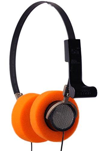 xcoser Star Lord Headphones Handmade Hi-Fi Stereo Headset Orange Ear Pad Steel Mesh Cosplay with 3.5mm Jack]()