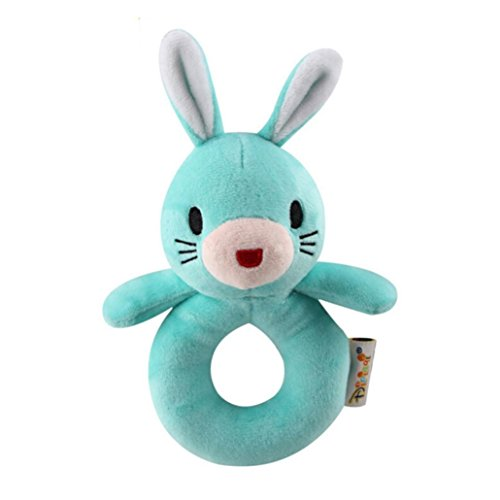 Gbell Educational Rattles For Infants,Soft Plush Animal Hand Bells Doll Toy for Newborns Infants (B)