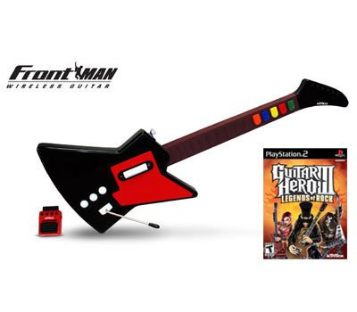 Playstation 2 Guitar Hero 3 and Nyko Frontman Wireless Guitar