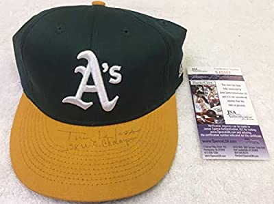 Tony Larussa Autographed Signed Inscribed 3X Champs Oakland As Snapback Hat With Jsa Coa