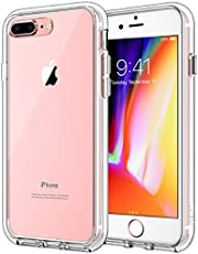 JETech Case for iPhone 8 Plus and iPhone 7 Plus 5.5-Inch, Shock-Absorption Bumper Cover, Anti-Scratch Clear Back (HD Clear)