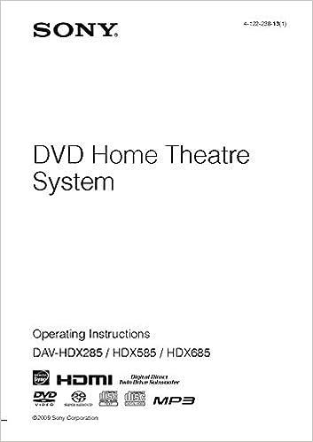 User manual sony dav-tz140 dvd home cinema system davtz140 | pdf.
